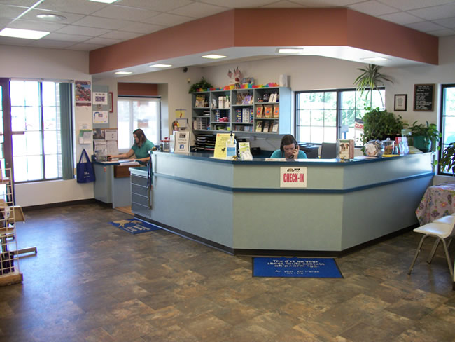 Eastside Animal Hospital Reception Area