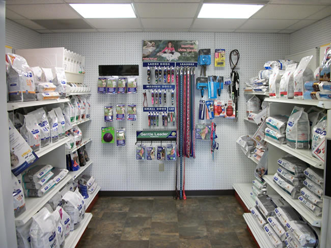 Eastside Animal Hospital Retail and Prescription Diet Area